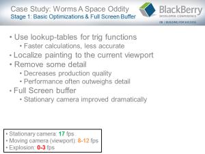 BlackBerry Game Development Challenges - Slide 17